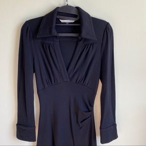 Diane Von Furstenberg Black Wool Dress Size 4